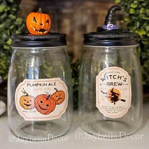 Halloween Decor Mason Jars for Rae Dunn